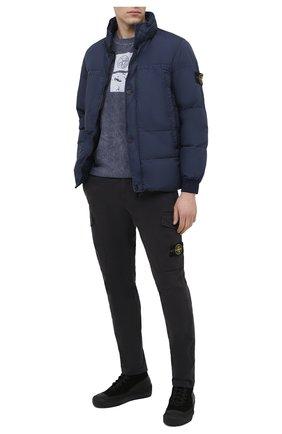 Мужской хлопковые брюки-карго STONE ISLAND темно-серого цвета, арт. 731531310 | Фото 2