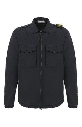 Мужская рубашка STONE ISLAND темно-серого цвета, арт. 731511303 | Фото 1