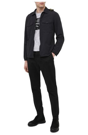 Мужская рубашка STONE ISLAND темно-серого цвета, арт. 731511303 | Фото 2