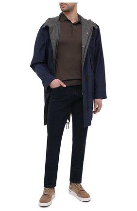 Мужское шерстяное поло LORO PIANA серого цвета, арт. FAI6519/VVIC | Фото 2