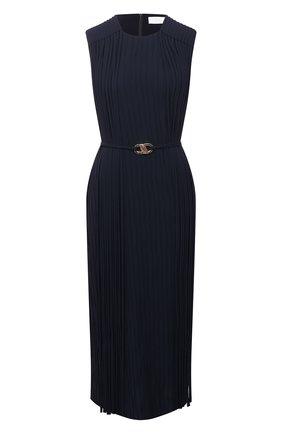 Женское платье BOSS темно-синего цвета, арт. 50449275 | Фото 1