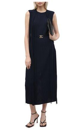 Женское платье BOSS темно-синего цвета, арт. 50449275 | Фото 2