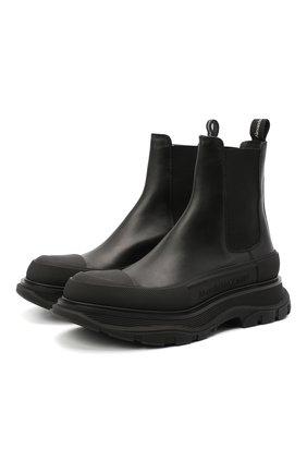 Женские кожаные ботинки tread slick ALEXANDER MCQUEEN черного цвета, арт. 635714/WHZ61 | Фото 1