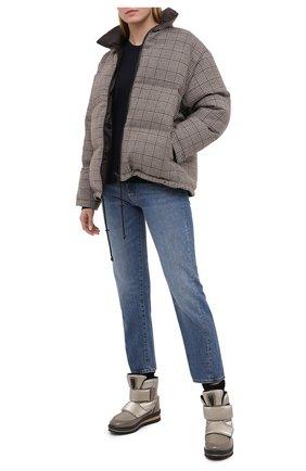 Женские текстильные ботинки JOG DOG бронзового цвета, арт. 14063R/DR_ZAFFIR0FLASH/W | Фото 2