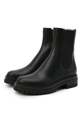 Женские кожаные челси GIANVITO ROSSI черного цвета, арт. G73462.20G0M.CLNNER0 | Фото 1