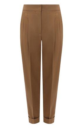Женские шерстяные брюки CASASOLA бежевого цвета, арт. TRS-Z-LEBL0N/W00L-SILK-LINEN | Фото 1