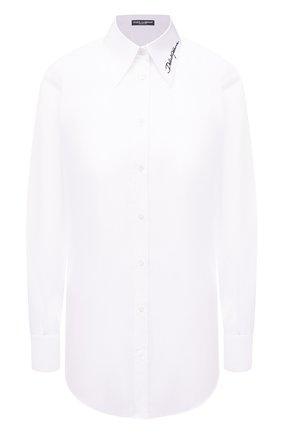 Женская хлопковая рубашка DOLCE & GABBANA белого цвета, арт. F5N09Z/GD0F7 | Фото 1