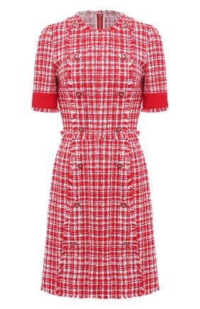 Женское платье DOLCE & GABBANA красного цвета, арт. F6J0JT/FMMFR | Фото 1