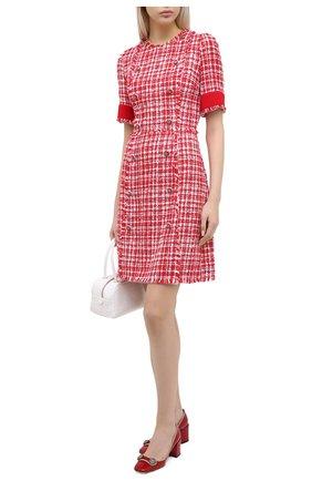 Женское платье DOLCE & GABBANA красного цвета, арт. F6J0JT/FMMFR | Фото 2