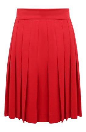 Женская шерстяная юбка DOLCE & GABBANA красного цвета, арт. F4BWVT/FUBE7 | Фото 1