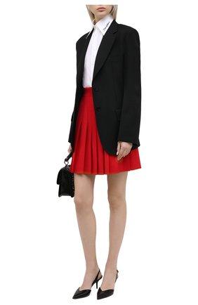 Женская шерстяная юбка DOLCE & GABBANA красного цвета, арт. F4BWVT/FUBE7 | Фото 2