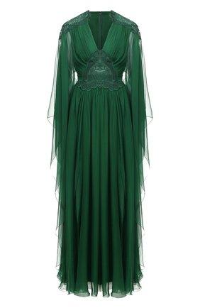 Женское шелковое платье ZUHAIR MURAD зеленого цвета, арт. KAP20044/CHSI003 | Фото 1
