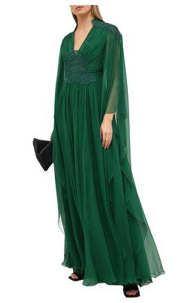 Женское шелковое платье ZUHAIR MURAD зеленого цвета, арт. KAP20044/CHSI003 | Фото 2
