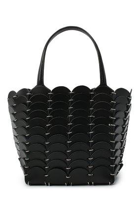 Женская сумка pacoio cab mini PACO RABANNE черного цвета, арт. 20ASS0197CLF037   Фото 1 (Ремень/цепочка: На ремешке; Размер: mini; Материал: Натуральная кожа; Сумки-технические: Сумки top-handle)
