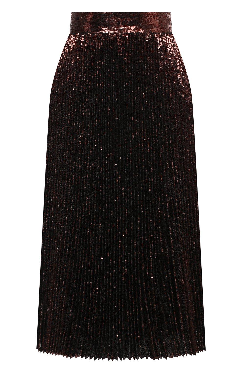Женская юбка DOLCE & GABBANA бронзового цвета, арт. F4BYGT/FLMK4 | Фото 1