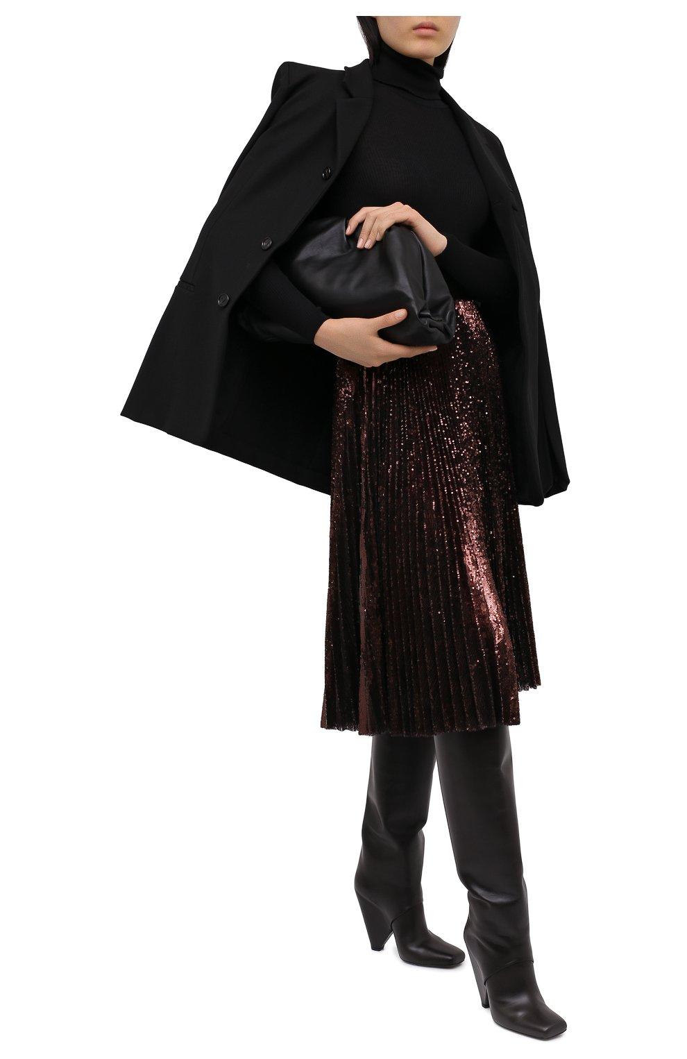 Женская юбка DOLCE & GABBANA бронзового цвета, арт. F4BYGT/FLMK4 | Фото 2