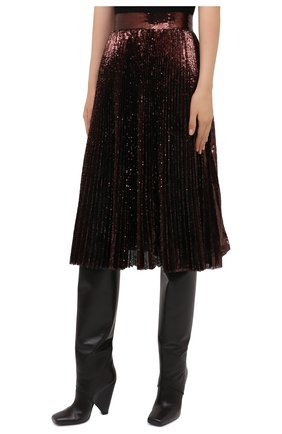 Женская юбка DOLCE & GABBANA бронзового цвета, арт. F4BYGT/FLMK4 | Фото 3
