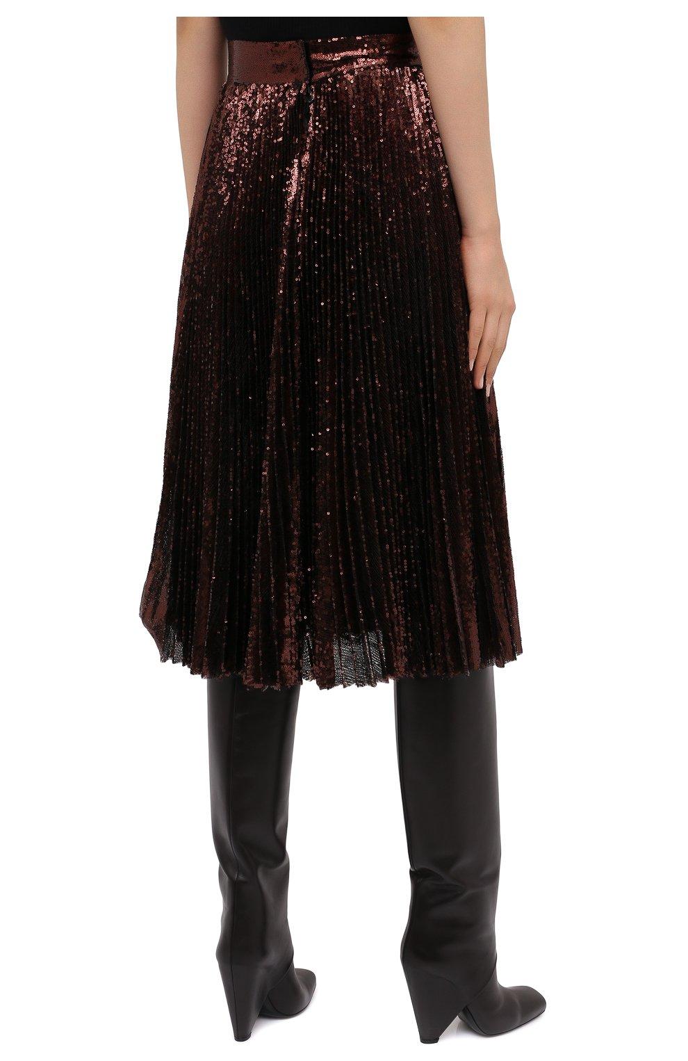 Женская юбка DOLCE & GABBANA бронзового цвета, арт. F4BYGT/FLMK4 | Фото 4