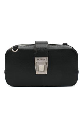 Мужская кожаная сумка BALENCIAGA черного цвета, арт. 637883/11U1Y | Фото 1