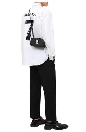 Мужская кожаная сумка BALENCIAGA черного цвета, арт. 637883/11U1Y | Фото 2