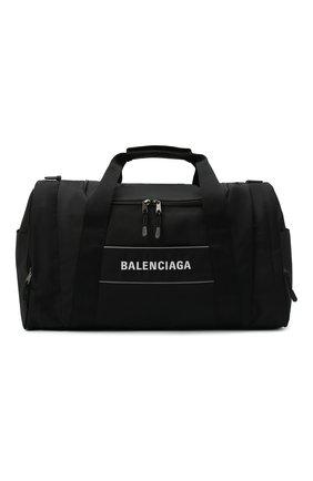 Мужская текстильная дорожная сумка sport BALENCIAGA черного цвета, арт. 638128/2HFNX   Фото 1