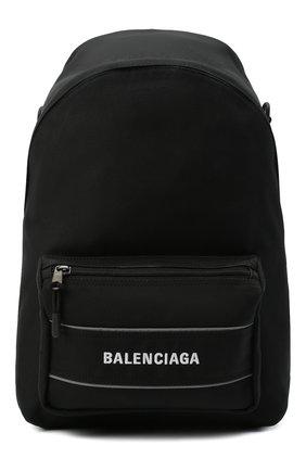 Мужской текстильный рюкзак sport BALENCIAGA черного цвета, арт. 638106/2HF0X | Фото 1