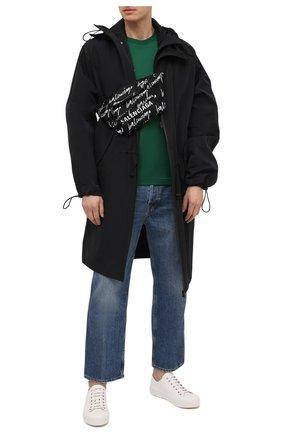 Мужская текстильная поясная сумка wheel BALENCIAGA черно-белого цвета, арт. 533009/9MIPN | Фото 2