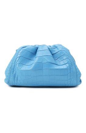 Женский клатч pouch 20 из кожи аллигатора BOTTEGA VENETA синего цвета, арт. 585852/VCPX1/AMIS | Фото 1