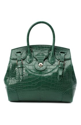 Женская сумка ricky 33 из кожи крокодила RALPH LAUREN зеленого цвета, арт. 435822916/AMIS | Фото 1