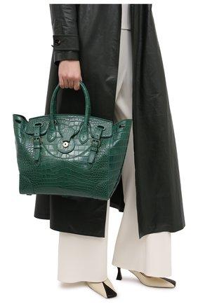 Женская сумка ricky 33 из кожи крокодила RALPH LAUREN зеленого цвета, арт. 435822916/AMIS | Фото 2
