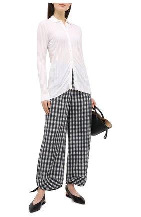 Женские льняные брюки GIORGIO ARMANI черно-белого цвета, арт. 0WHPP0EK/T022K | Фото 2