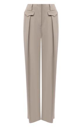 Женские брюки из вискозы и шелка GIORGIO ARMANI бежевого цвета, арт. 0WHPP0DD/T008A | Фото 1