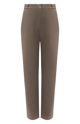 Женские хлопковые брюки GIORGIO ARMANI хаки цвета, арт. 0WHPP0EM/T022S | Фото 1