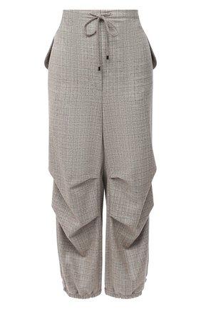 Женские шерстяные брюки GIORGIO ARMANI бежевого цвета, арт. 0WHPP0E1/T01WN | Фото 1