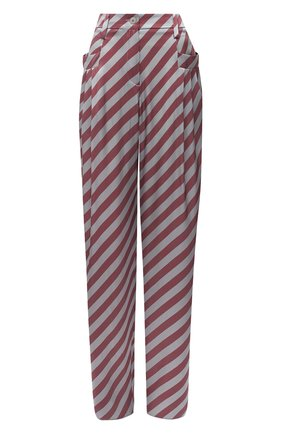 Женские шелковые брюки GIORGIO ARMANI красного цвета, арт. 0WHPP0DN/T01VC | Фото 1