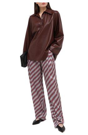 Женские шелковые брюки GIORGIO ARMANI красного цвета, арт. 0WHPP0DN/T01VC | Фото 2