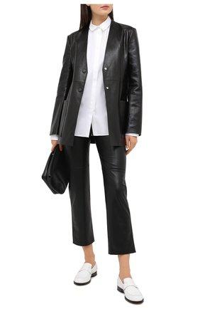 Женская хлопковая рубашка JIL SANDER белого цвета, арт. JSX0600005-W0244300 | Фото 2
