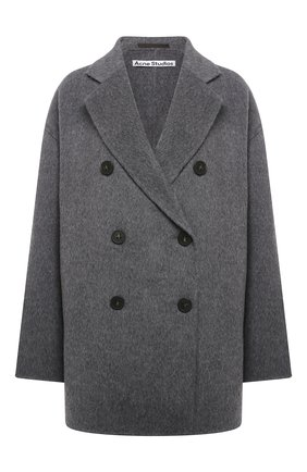 Женское шерстяное пальто ACNE STUDIOS серого цвета, арт. A90273 | Фото 1