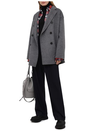 Женское шерстяное пальто ACNE STUDIOS серого цвета, арт. A90273 | Фото 2