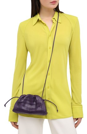 Женский клатч pouch 20 из кожи аллигатора BOTTEGA VENETA фиолетового цвета, арт. 585852/VCPX2/AMIS | Фото 2