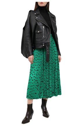 Женская юбка BALENCIAGA зеленого цвета, арт. 642194/TJLA9 | Фото 2