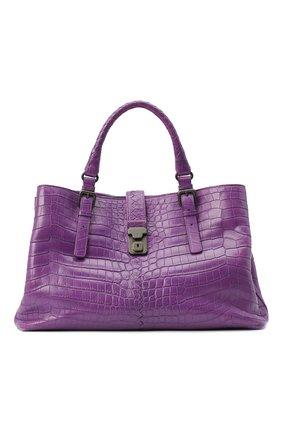 Женская сумка из кожи крокодила BOTTEGA VENETA сиреневого цвета, арт. 291490/V9022 | Фото 1