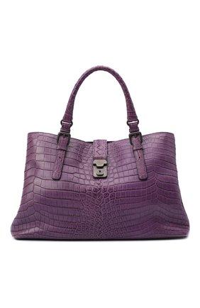 Женская сумка из кожи крокодила BOTTEGA VENETA фиолетового цвета, арт. 291490/V9022 | Фото 1