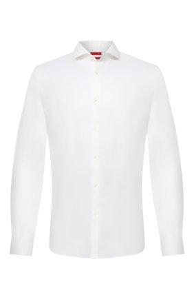 Мужская хлопковая сорочка HUGO белого цвета, арт. 50381698 | Фото 1