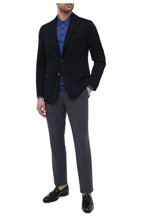 Мужские кожаные лоферы SANTONI черного цвета, арт. MCRA17413LE1FVVDN01 | Фото 2