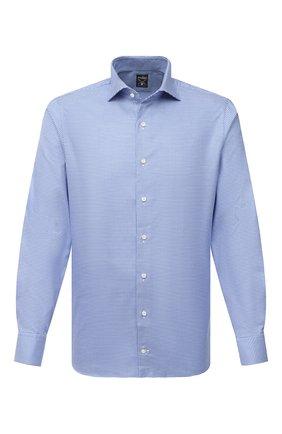 Мужская хлопковая сорочка VAN LAACK синего цвета, арт. MIVARA-SF/163277 | Фото 1 (Материал внешний: Хлопок; Рукава: Длинные; Длина (для топов): Стандартные; Мужское Кросс-КТ: Сорочка-одежда; Принт: Клетка; Случай: Формальный; Рубашки М: Slim Fit; Манжеты: На пуговицах; Воротник: Акула; Стили: Классический)
