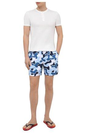 Мужские плавки-шорты DEREK ROSE синего цвета, арт. 9761-MAUI027 | Фото 2