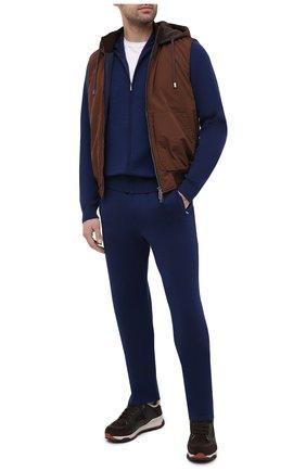Мужской спортивный костюм из кашемира и вискозы ZILLI синего цвета, арт. MBU-J0137-SP0R1/ML01   Фото 1
