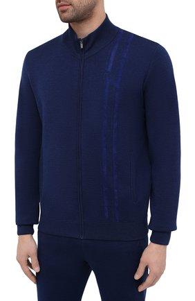 Мужской спортивный костюм из кашемира и вискозы ZILLI синего цвета, арт. MBU-J0137-SP0R1/ML01   Фото 2