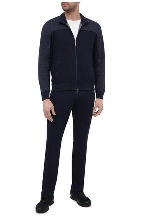 Мужской спортивный костюм из хлопка и кашемира ZILLI SPORT темно-синего цвета, арт. MBU-ZSJ03-C0WSP/ML01 | Фото 1